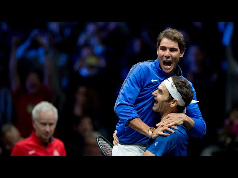 The day when Roger Federer and Nadal played together (doubles)    Laver Cup 2019 Full Highlights