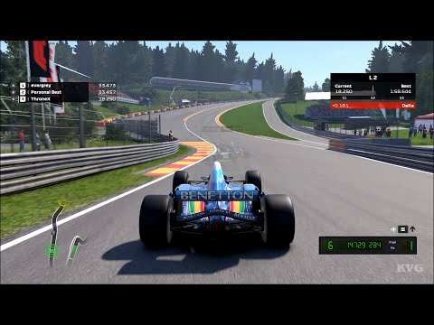 F1 2020 - Benetton B195 Renault 1995 - Test Drive Gameplay (PC HD) [1080p60FPS] |