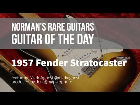 Norman's Rare Guitars - Guitar of the Day: 1957 Fender Stratocaster