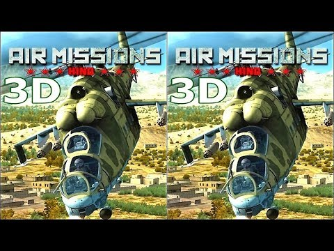 Virtual Reality 3D video Air Missions HIND 3D TV VR box 3D SBS симулятор вертолета