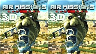 3D VR box TV video  Air Missions HIND  Side by Side SBS симулятор вертолета