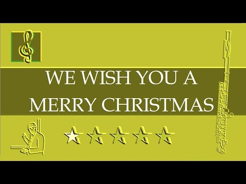 Flute notes tutorial - We wish you a merry Christmas (Sheet music)