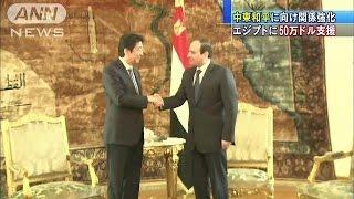 中東和平に向け関係強化 エジプトに50万ドル支援(15/01/18)