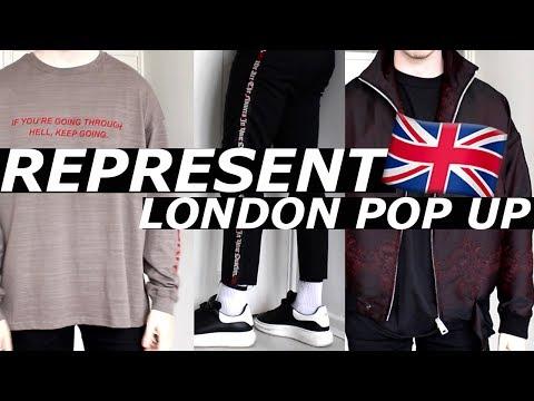 REPRESENT 🇬🇧 LONDON POP UP | Exclusive, Sample Sale, Pickups | Hypebeast Streetwear Haul| Gallucks