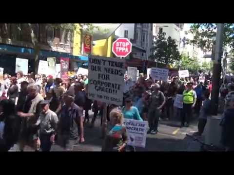 TPPA March Auckland New Zealand