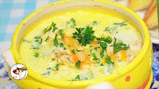 Суп «на скорую руку» с плавлеными сырками и вермишелью. Быстро и Вкусно.