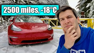 How Miserable Is A Winter Tesla Road Trip? -18°C \u0026 Broken Superchargers
