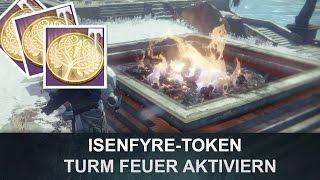 Destiny: Eisen Turm Feuer aktivieren / Isenfyre-Token (Deutsch/German)
