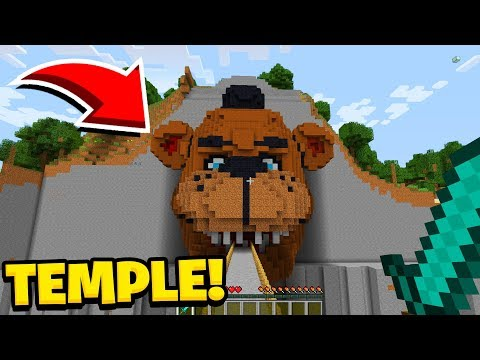 Minecraft : I Found The TEMPLE OF FIVE NIGHTS AT FREDDYS(Ps3/Xbox360/PS4/XboxOne/PE/MCPE)