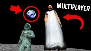 GIANT GRANNY on the MOON in GRANNY MULTIPLAYER!... (Granny Mobile Horror Game MULTIPLAYER)