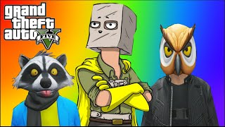 GTA 5 Online | Vanossgaming : Paper Bag Man, Valkyrie Chopper, Night Owl Cave | Vanoss