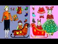 Paper Dolls Dress Up - Costumes Christmas and Gift Special Dresses Handmade - Barbie Story & Crafts