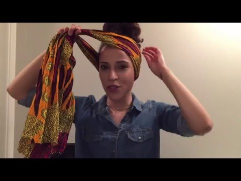 How To Wrap Your Hair (African-Style) Perfect For Spring and Summer!!