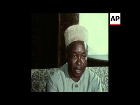 SYND 12 1 75 JULIUS NYERERE INTERVIEW ON RHODESIA