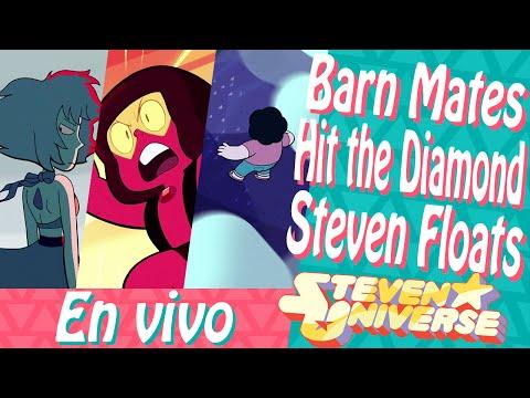 Steven Universe | Barn Mates | Hit the Diamond | Steven Floats | Platica en vivo con ALFRELY!