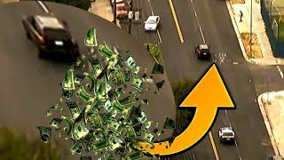😲 3 מרדפי משטרה מטורפים כמו ב GTA ( מיליון דולר נזרקים מהחלון )