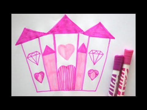 prinzessinen schlo zeichnen lernen how to draw princess castle youtube. Black Bedroom Furniture Sets. Home Design Ideas