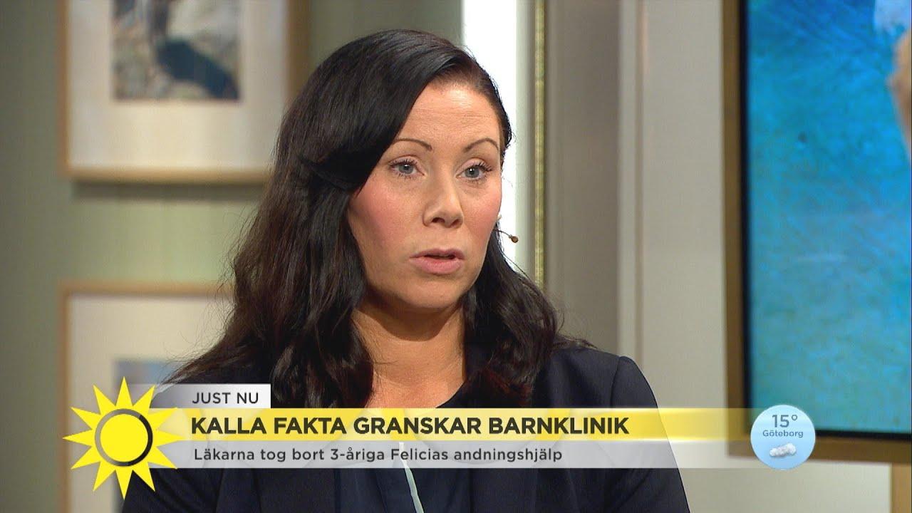 """Kalla fakta granskar barnklinik – """"Min dotter har många gånger svävat i livsfar - Nyhetsmorgon (TV4)"""