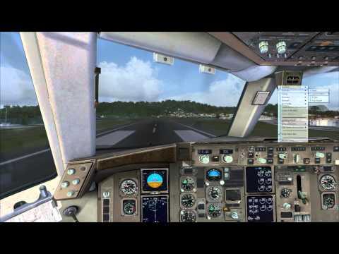 FSX B757-200 PW Taking off from Princess Juliana International Airport TNCM TO SBFZ HD.