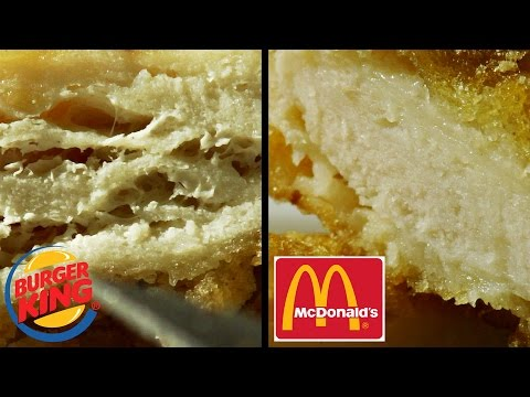 a review of burger king in comparison to mcdonalds Mcdonald's taco bell  burger king double cheeseburger review:  it's pretty interesting in that burger king's website allows you to customize your burger .