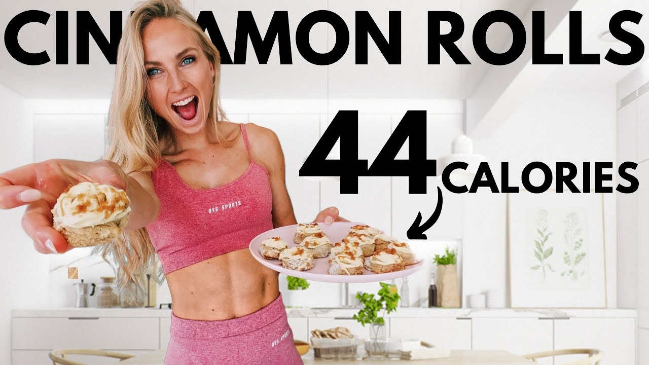 Low Calorie Protein Cinnamon Rolls (ONLY 44 Calories) Delicious Anabolic Snack / Dessert Recipe