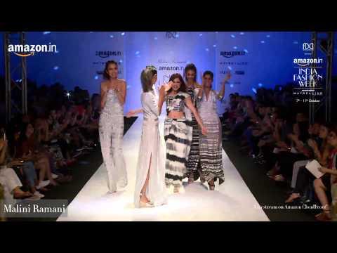 Gauri & Nainika, Malini Ramani Show at Amazon India Fashion Week