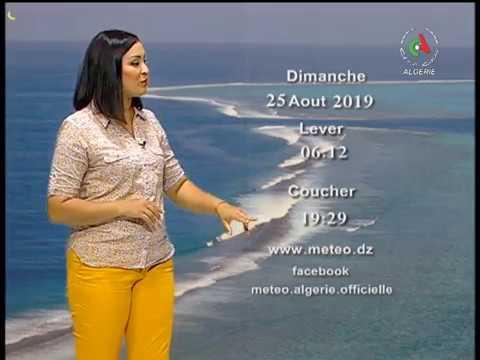 Retrouvez la météo du dimanche 25 Août 2018 sur Canal Algérie🇩🇿