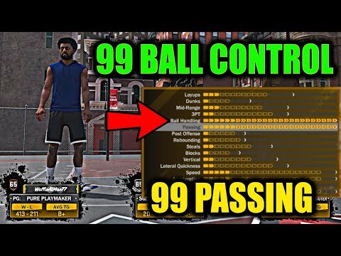 USING ONLY 99 SPEED WITH BALL+ 99 PASSING! FIRST 3 GAMES WITH PURE PLAYMAKER! I'M ASS- NBA 2K18