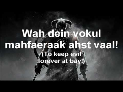 Thumbnail: Skyrim: The Song of the Dragonborn (with lyrics)