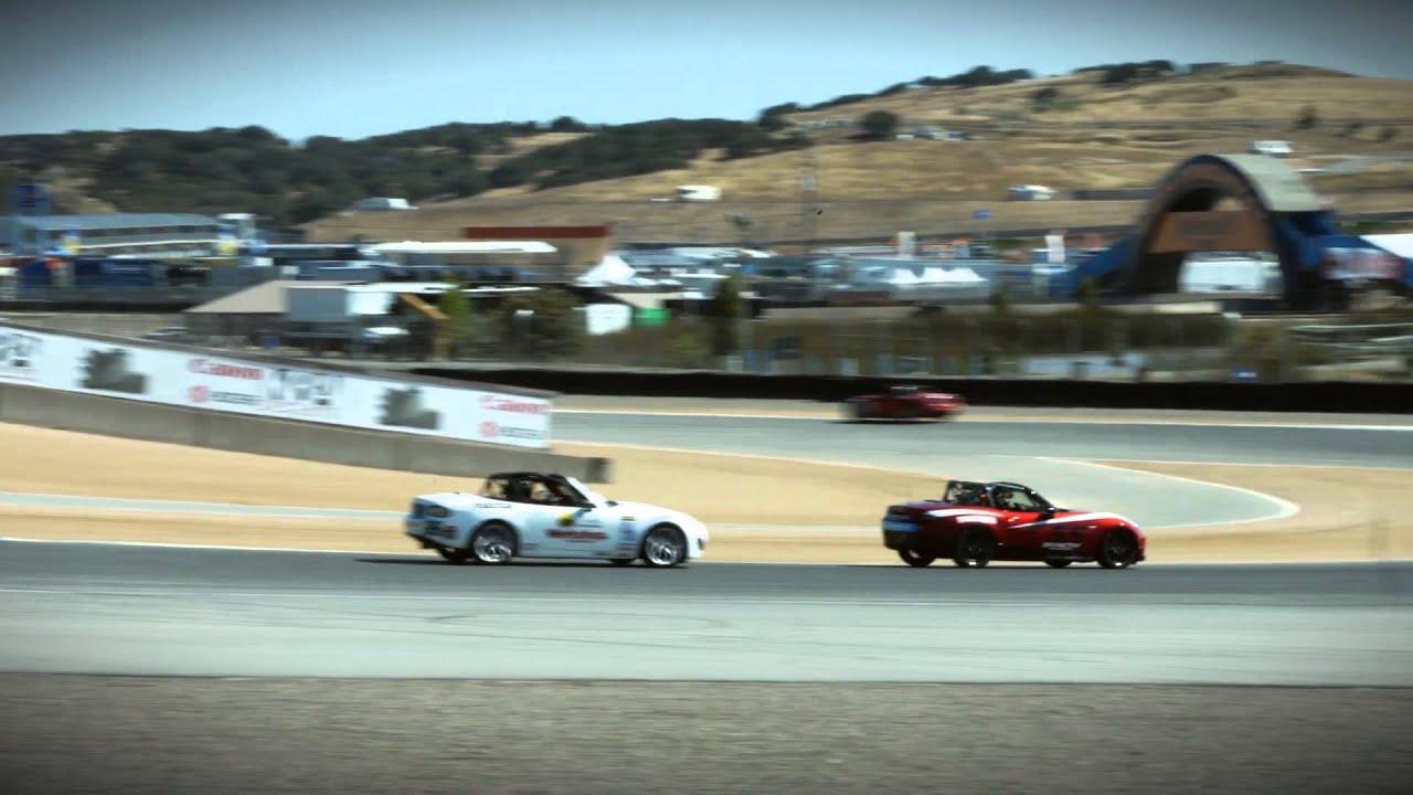 2016 MX-5 Global Cup Race Cars at Mazda Raceway Laguna Seca - YouTube
