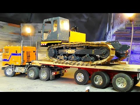 RC TRACK DUMPER WITH NEW ENGINES! HEAVY 20KG TIPPER! COOL RC CRANE ACTION!