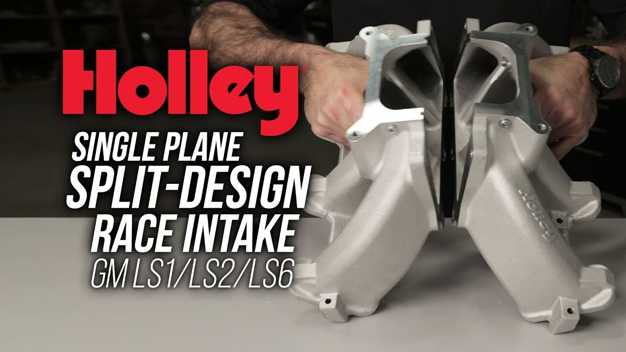 Holley Split-Design Single Plane Intake Manifold – GM LS1