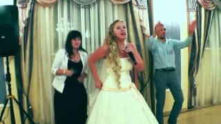 Прикольная красивая свадьба!!!))) Невеста читает реп!:)