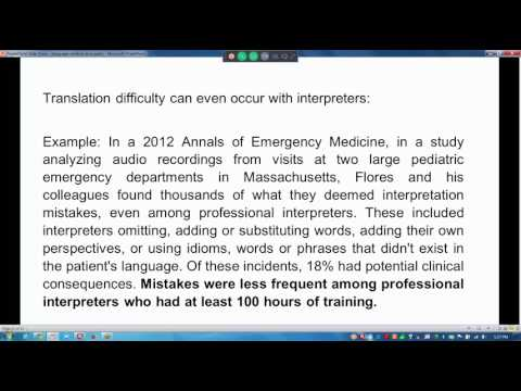 Cultural Competency, Language Barriers, and Medical Error
