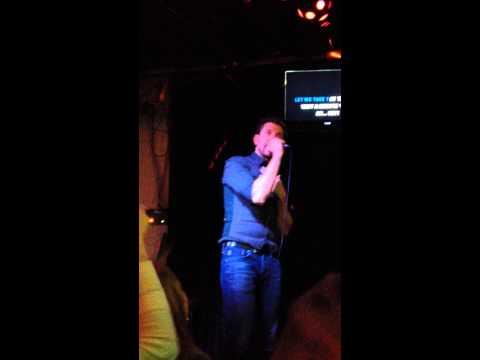"Brett Eldredge karaoke ""Bang Bang"""