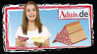 Papierflieger falten - Anleitung