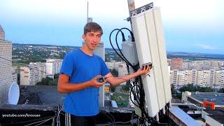 Electromagnetic background in Lugansk city