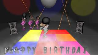 Disco Dog Happy Birthday