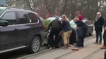 Copenhagen shooting: Aftermath captured in amateur video footage
