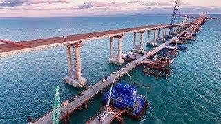 Крымский мост. Строительство сегодня 18.02.2018. Керченский мост.