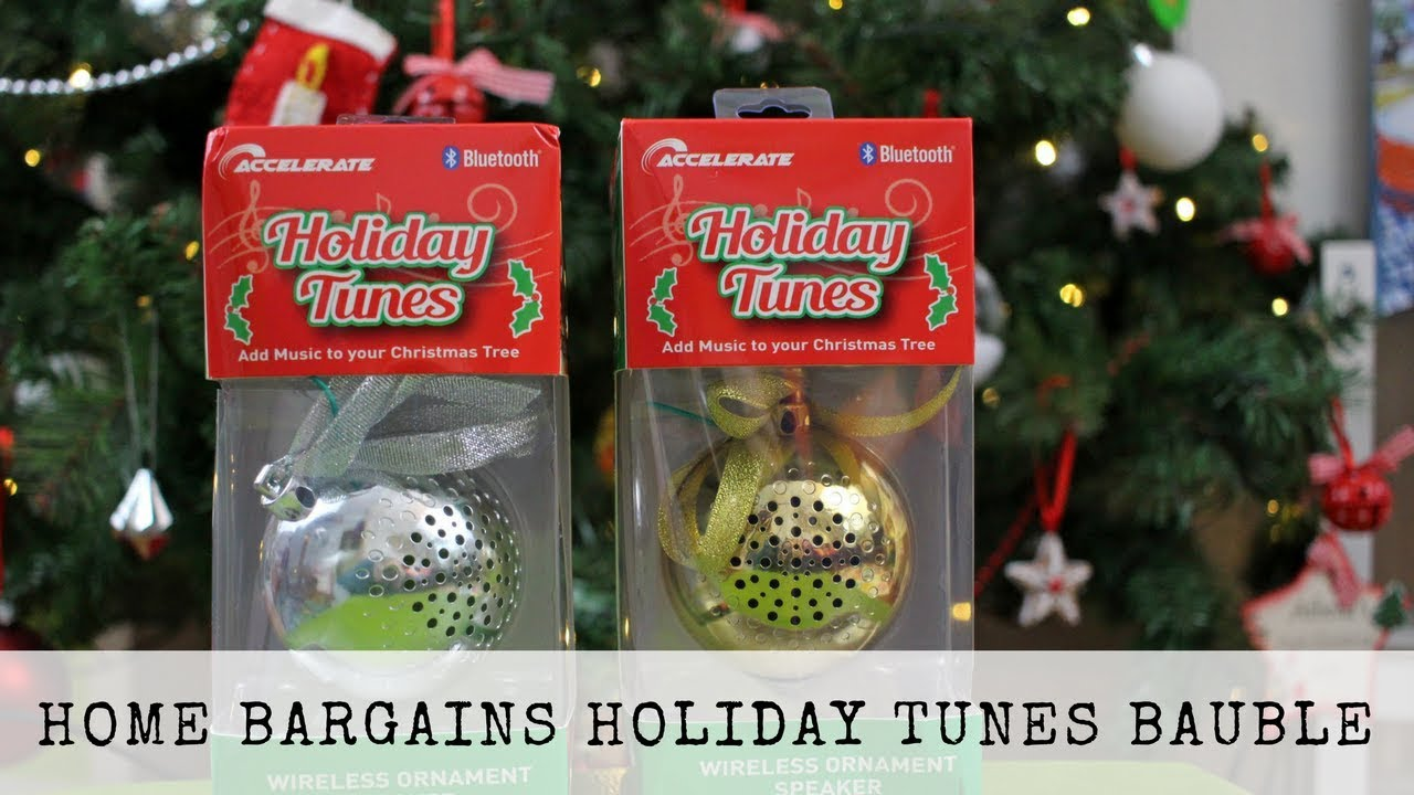 The Home Bargains Holiday Tunes Wireless Speaker Bauble Ad