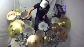 Hinder - We Wish You a Merry Christmas - Drum Cover by Collin Rayner