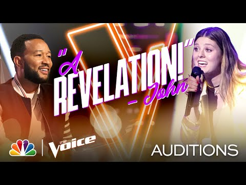 """Julia Cooper's Originality Comes Through on Maggie Rogers' """"Alaska"""" - The Voice Blind Auditions 2020"""