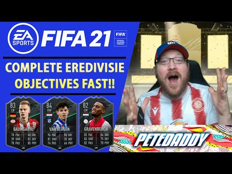 How To Complete EREDIVISIE SQUAD FOUNDATIONS OBJECTIVES FAST Van Bergen - Gravenberch - FIFA 21