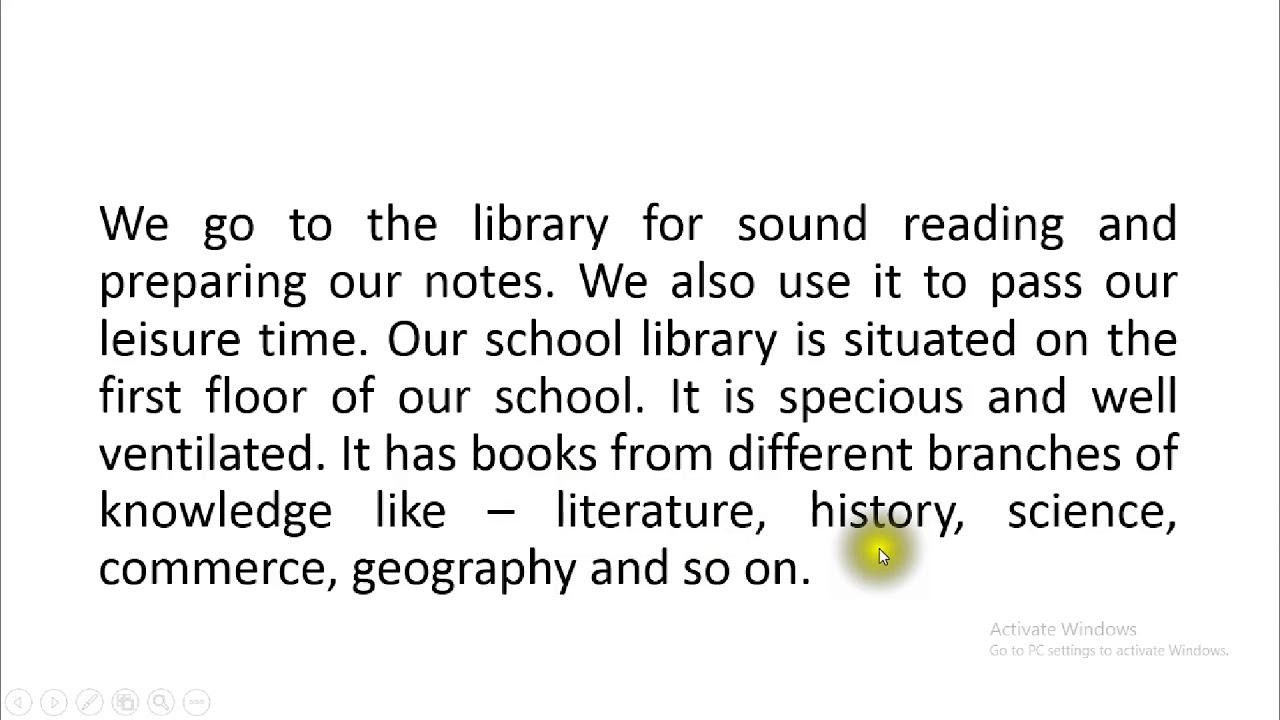 my school library essay