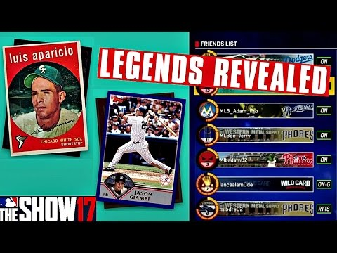 MLB THE SHOW 17 JASON GIAMBI & LUIS APARICIO REVEALED!! UNIVERSAL PROFILE/UNIFORMS