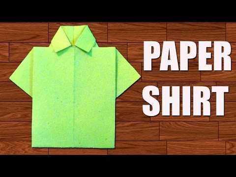 How to Make Paper Shirt - DIY Origami Paper Crafts.