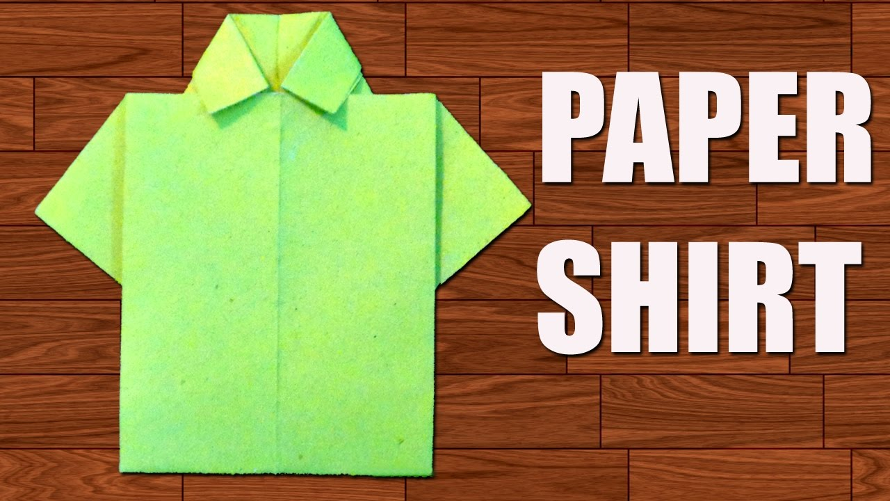 82926dd4 How to Make Paper Shirt - DIY Origami Paper Crafts. - YouTube