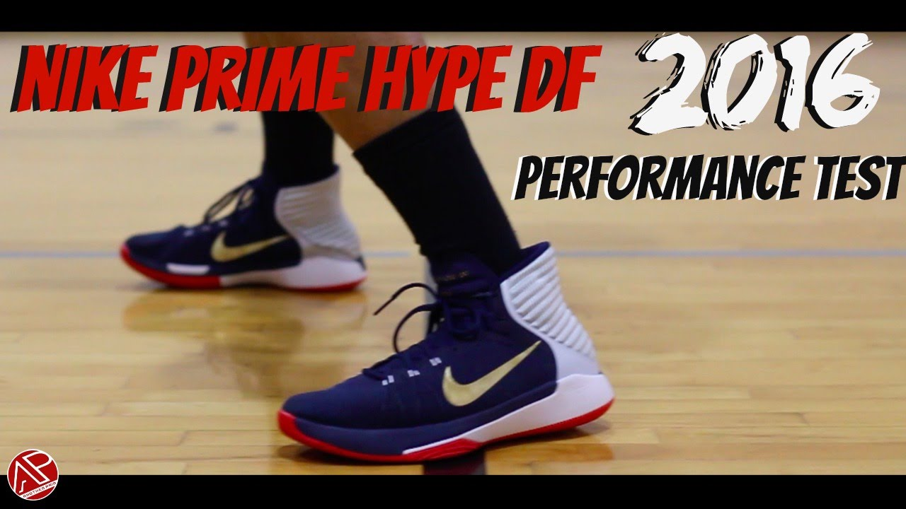 Nike Prime Hype Df 2016 Blue Basketball Shoes