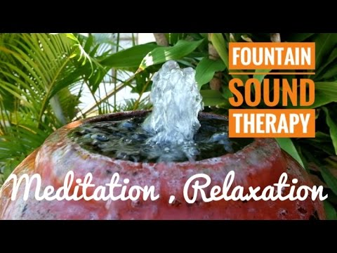 30 MINUTE - Calming Sound - Fountain Sound Therapy Relaxation  Meditation Reading Sleep Study